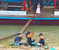 Myanmar - Women Bathing