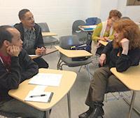 Davida Rappaport chats with students